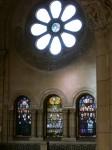 Rosetón y trio de vitreaux lado sur